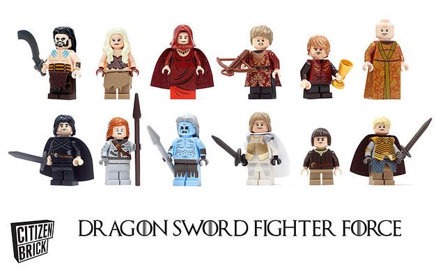 Custom Citizen Brick Dragon Sword Fighter Force minifigs