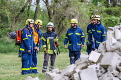 Trümmerübung THW & Rettungshunde Fort Biehler 12.04.14