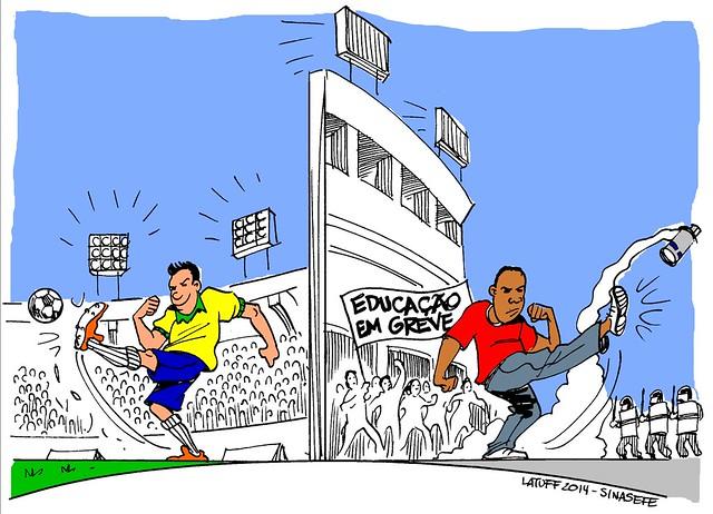 Diferentes chutes dentro e fora dos gramados, por Carlos Latuff