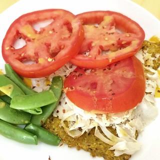 Turkey and cauliflower flat bread