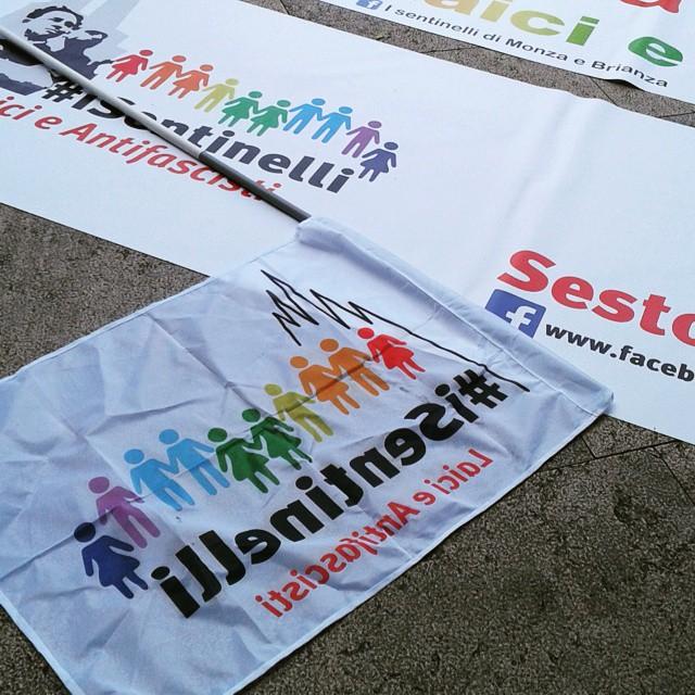 Preparazione #sentinelli #milanopride #pride2015