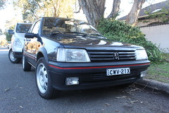 automobile, peugeot, vehicle, city car, peugeot 309, peugeot 205, land vehicle,