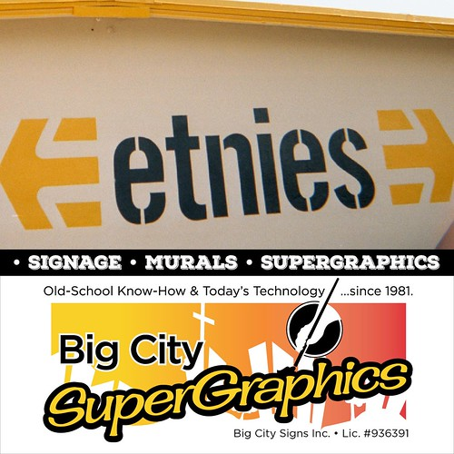 Big City Supergraphics ... old school know-how & today's technology.