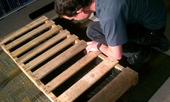 Cleaning up a heat treated pallet
