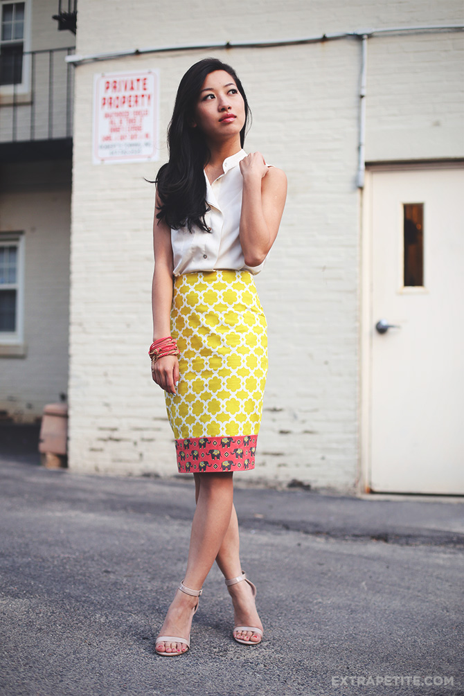 lime elephant skirt DIY 3