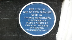 Photo of Charles Dickens and Thomas Humphreys blue plaque