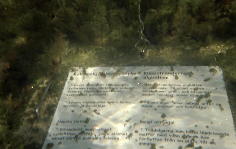 Information, underwater trail, Stora Hästö