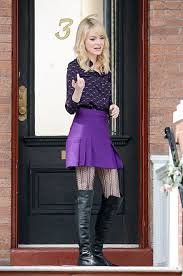 Emma Stone Patterned Tights Celebrity Style Women's Fashion