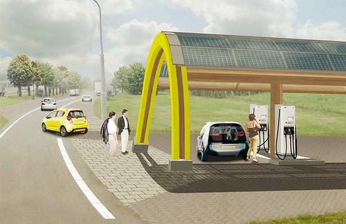 Крупнейшую в мире сеть станций быстрой зарядки электрокаров в Нидерландах построит ABB