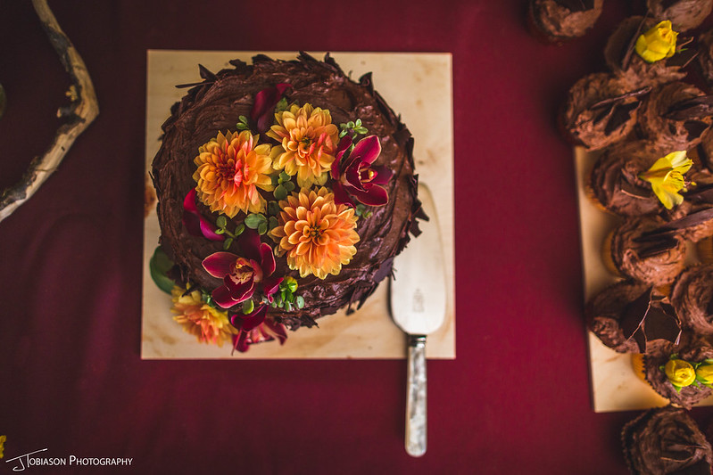 Cake by bride orcas island