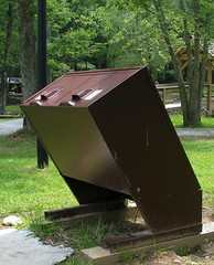 State Park style trash can