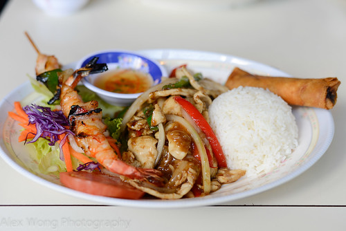 Vietnamese Lemongrass Chicken and Grilled shrimp