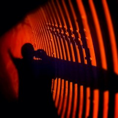 iPhoneographer's Arms in a Tunnel