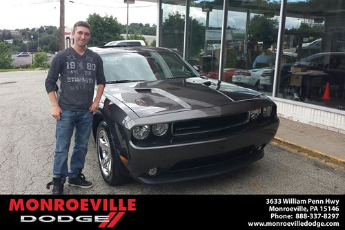 Thank you to Joseph Dunham on the 2013 new car   from Chance Saeler and everyone at Monroeville Dodge! by Monroeville Dodge