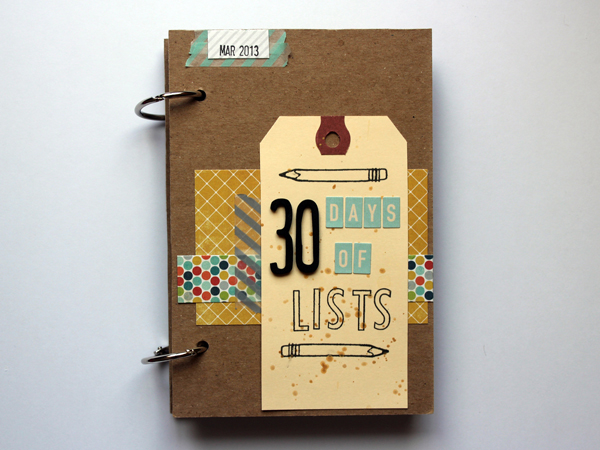 30 Days of Lists - March 2013 - Cover