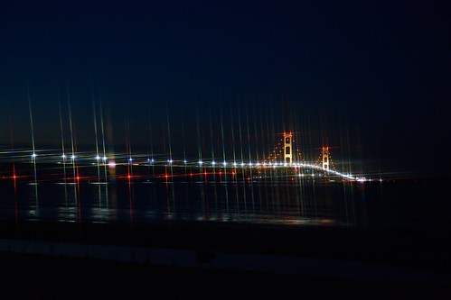 bridge water colors night star lakemichigan filter mackinawbridge