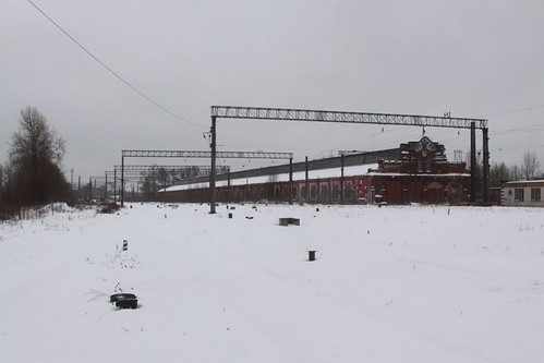 Snow covers the track fan at the southern end