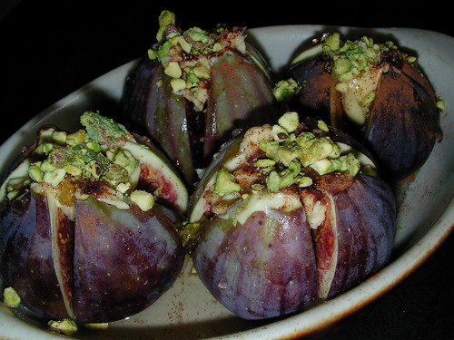 Loaded figs awaiting the oven by rustumlongpig