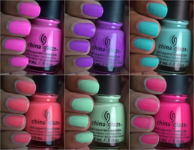 China Glaze Sunsational nail polish collection, part II