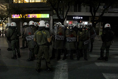 Greek police put down anti-fascist demo in Thessaloniki by Teacher Dude's BBQ