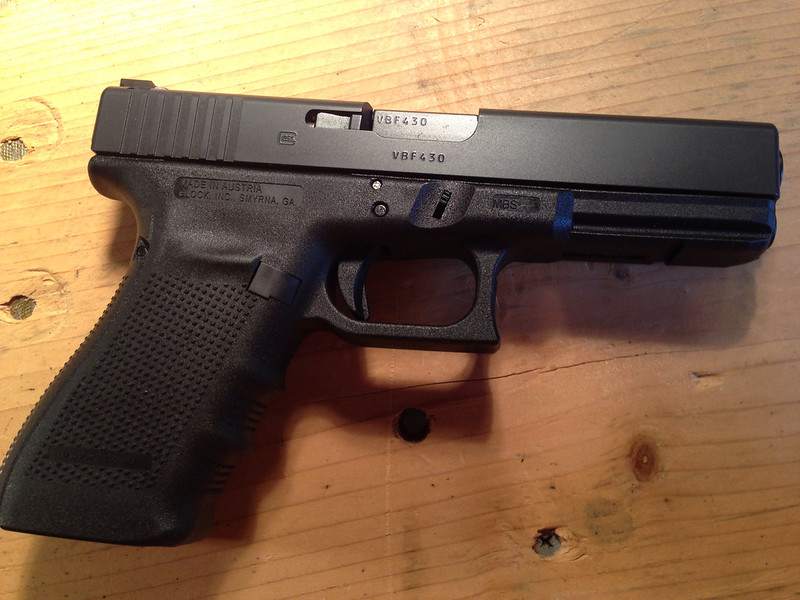 It is a picture of Shocking Glock 19 Gen 4 Blue Label Price