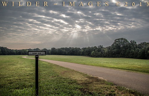 park cloud sun sunrise tennessee military national rays shiloh