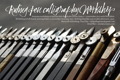 OMG - Ruling Pen Calligraphy WorkshopMGRuling Pen Calligraphy Workshop