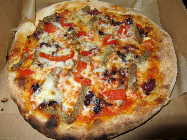 Brick oven fennel sausage pizza