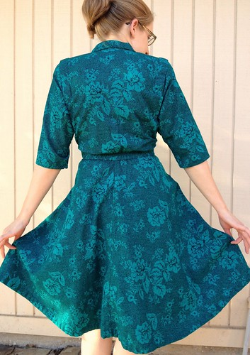 Emerald Wrap Skirt Refashion