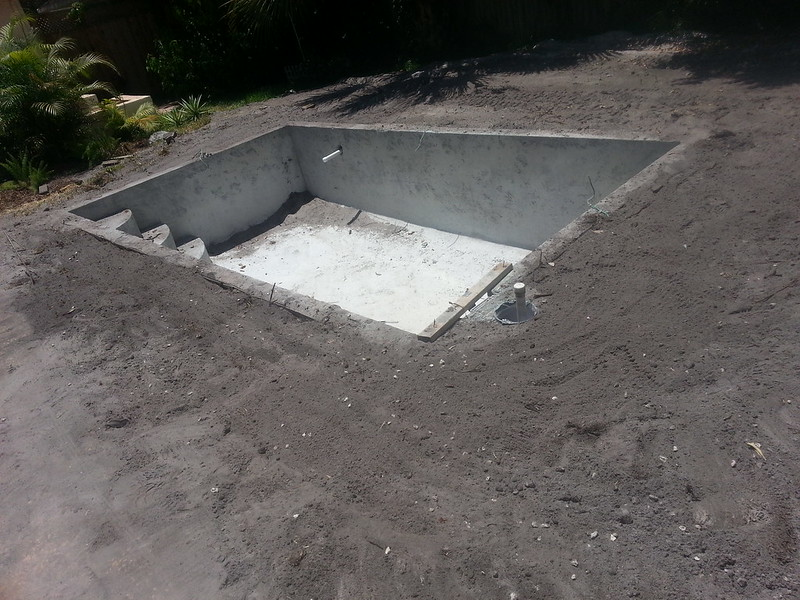 During Build of New Swimming Pool