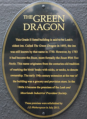 Photo of The Green Dragon, Leek black plaque