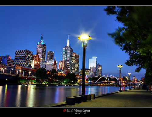 View from South bank, Melbourne