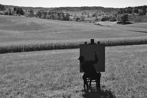 art field silhouette wisconsin landscape artist sony country painter fest fermentation a290 dtour 2013