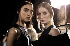 Models Madison Schill and Emma Burger. Hexa By Kuho Spring Summer 2013 Fashion Show.
