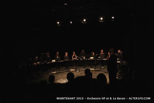MAINTENANT 2013 : Orchestre HP et B. Le Baron