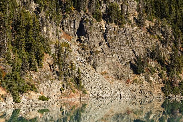Rock Slide on Garibaldi Lake