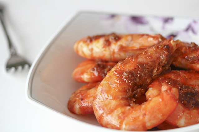 Vietnaese traditionnal food braised shrimp with caramel for Fish sauce caramel