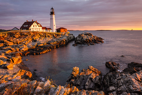 ocean morning autumn lighthouse seascape fall tourism me colors sunrise landscape photography dawn coast photo scenery view image postcard maine scenic newengland rocky landmark tourist historic gifts shore prints attraction portlandheadlight capeelizabeth benjaminwilliamson