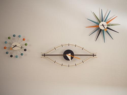 Trifecta of George Nelson Clocks