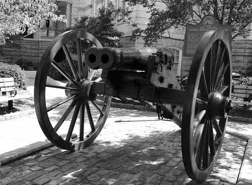 Civil War Double-Barrel Cannon, Athens, Georgia USA