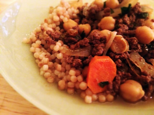 moroccan style lamb and chickpeas