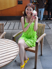 Singapore - Young Lady with Icecream