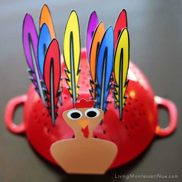 Turkey Practical Life and Color Matching Activity