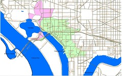 Tidal Basin & Washington Channel hydrological maps