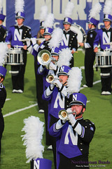 NUMB - Northwestern vs. Western Michigan - September 14, 2013 ::  	   The Northwestern University 'Wildcat' Marching Band rehearses outside Ryan Field just before Northwestern Wildcat Football competes against Western Michigan University on September 14, 2013.  Photo by Daniel M. Reck (GSESP08).