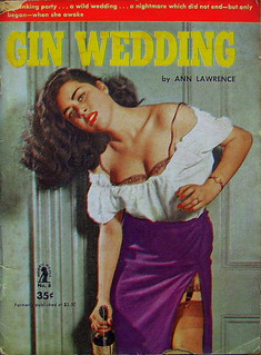 Gin Wedding - Intimate Novel - No 8 - Ann Lawrence - 1951 .