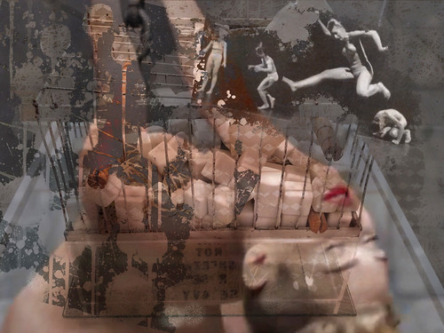 Miley Duchamp Counting Highjumpers- iPad Art by David Scott Leibowitz