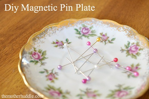 DIY magnetic pin plate