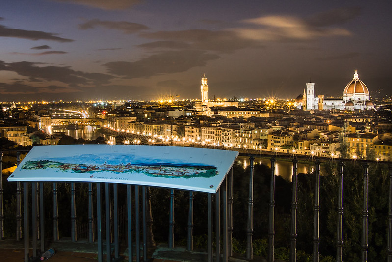 Top 10 Things to See in Florence, Italy: Firenze Panorama on Piazzale Michelangelo / Night