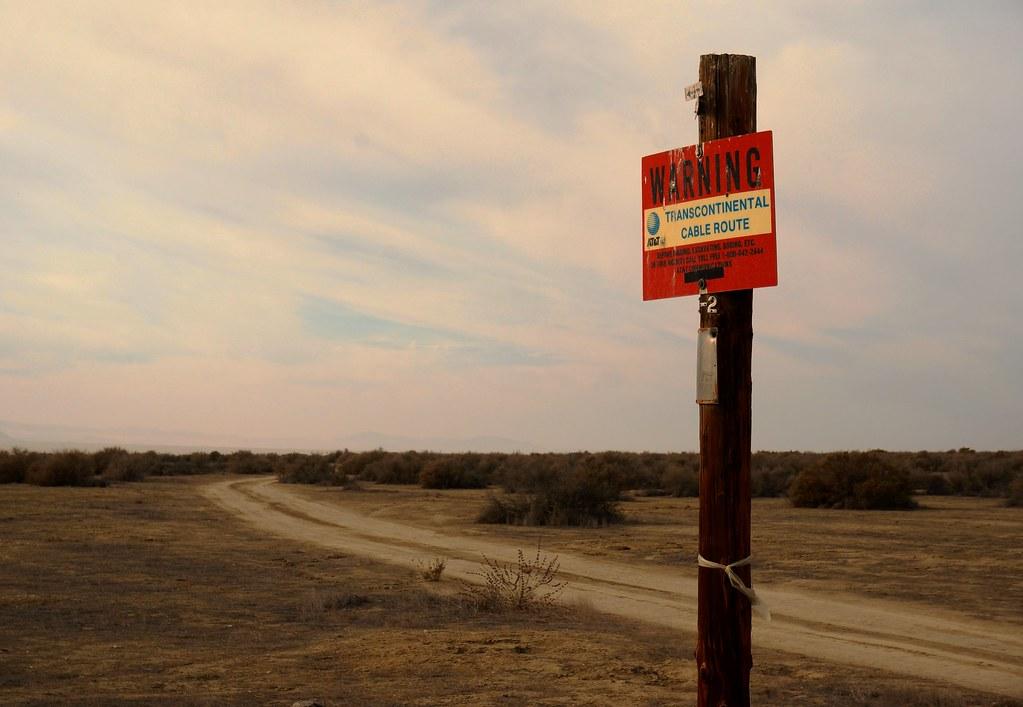 AT&T cable sign at Carrizo Plain
